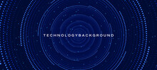 Hi Tech Digital Futuristic Technology Background . Abstract Texture Background . Halftone Spiral Background .