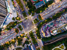 Aerial Photography Of Road Landscape In Guangzhou City Center