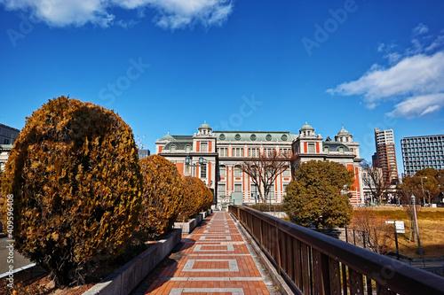 Fotografering 大阪中之島 栴檀の木橋から見る大阪市中央公会堂
