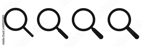 Obraz Search icon. Magnifying glass icon, vector magnifier or loupe sign. - fototapety do salonu