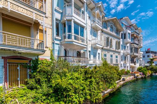 Fototapeta Arnavutkoy historical street view in Istanbul