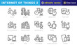 internet of things 2, elements of internet of things icon set. Outline Style. vector editable icons