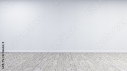 White wall backdrop, photorealistic 3D Illustration of the interior, suitable for using in photo manipulations or as a Zoom virtual background.