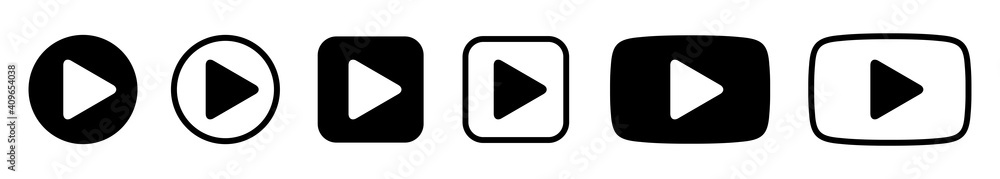 Fototapeta Player Button set icons sign, play button signs – vector