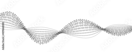 Abstract futuristic background with binary code.Digital binary data.A stream of binary matrix code.