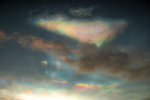 Colorful Nacreous Clouds At Sunrise