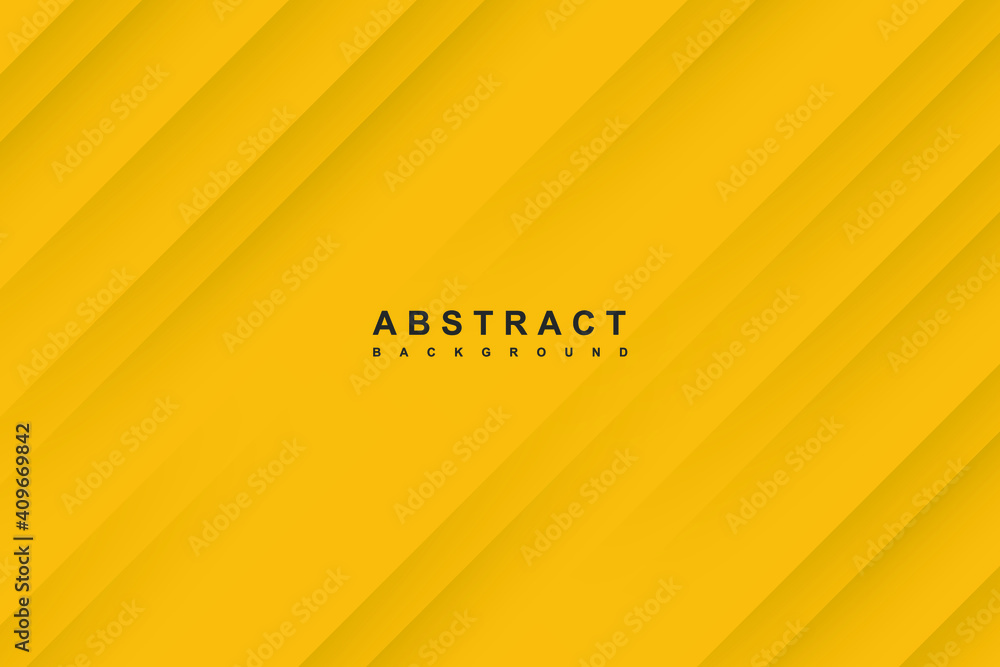 Fototapeta Abstract yellow background with diagonal papercut lines