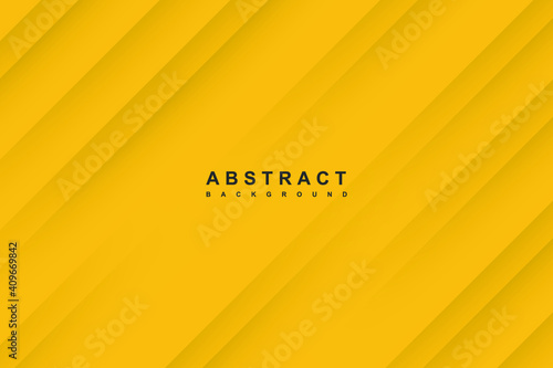 Obraz Abstract yellow background with diagonal papercut lines - fototapety do salonu