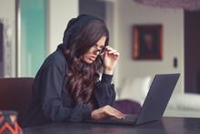 Woman In Hoodie Seeing Unbelievable Thing On Internet