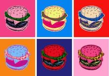 Set Burger Vector Illustration Pop Art Style