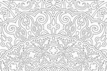 Fantasy Pattern For Coloring Book With Angel Wings