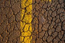 Texture. Asphalt And Signaling Lane