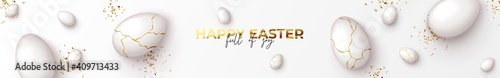Photo Happy Easter horizontal banner
