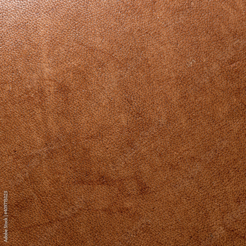 Fototapeta leather grunge background: an old piece of tough camel skin, with scuffs, spots,
