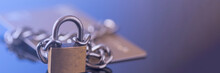 Credit Card Security, Safe Trading. Credit Card Lock Chain