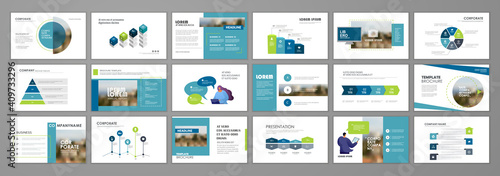 Obraz Business presentation slides templates - fototapety do salonu