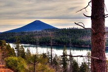 Suttle Lake And Black Butte Near Sisters Oregon