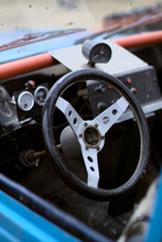 Close Up Of A Car Steering Wheel