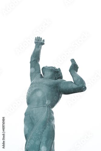 Fototapeta The Statue of Eternal Life in Cleveland Ohio