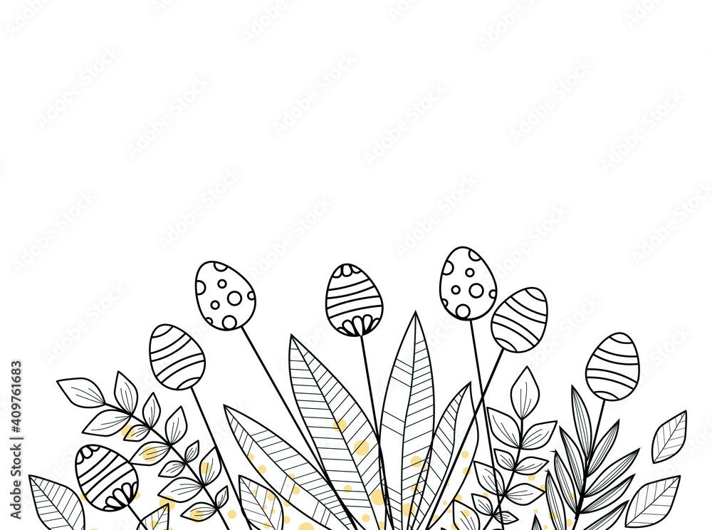 Fototapeta Easter background floral decoration