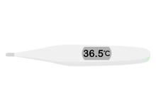 36.5℃を示す体温計