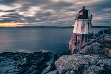 Oldcastle Lighthouse In Newport Rhode Island