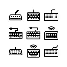 Keyboard Icon Or Logo Isolated Sign Symbol Vector Illustration - High-quality Black Style Vector Icons