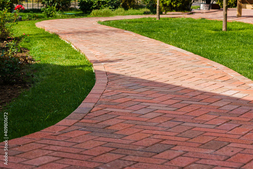 Obraz na plátně Clinker paving stones for laying paths in the garden