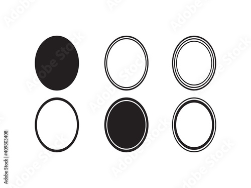 Fotografie, Obraz Basic Shapes Oval Monogram frame Basic Shapes