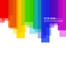 Vector Abstract Colorful Spectrum Background. Rainbow Vertical Colored Stripes