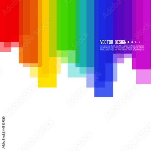 Obraz Vector abstract colorful spectrum background. Rainbow vertical colored stripes - fototapety do salonu