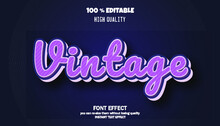 Modern Font Effect For Banner And Sticker