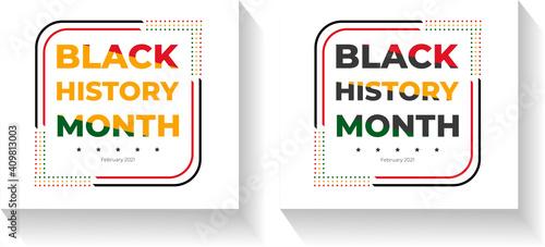 Fotografija Black history month template. design for banner or print.