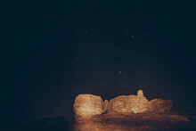 Pillars Of Solomon At Night , Stars Sky
