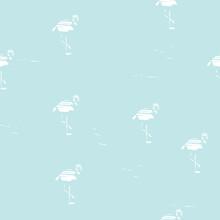 Seamless Pattern Flamingo