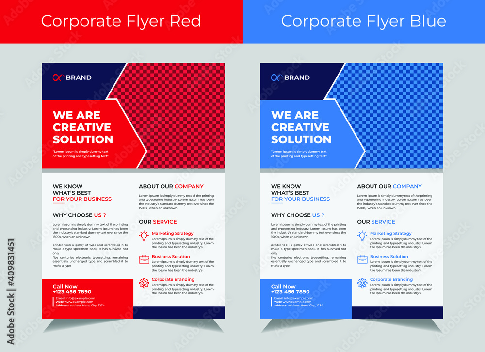 Fototapeta Corporate flyer template vector design, cover modern layout, corporate banners, IT Company flyer, Business Flyer set
