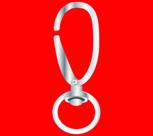 Swivel Hook Silver On Red Background