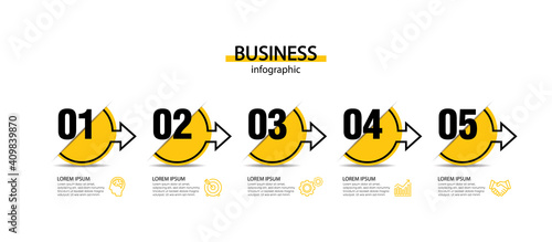 Obraz Presentation business abstract background infographic template - fototapety do salonu
