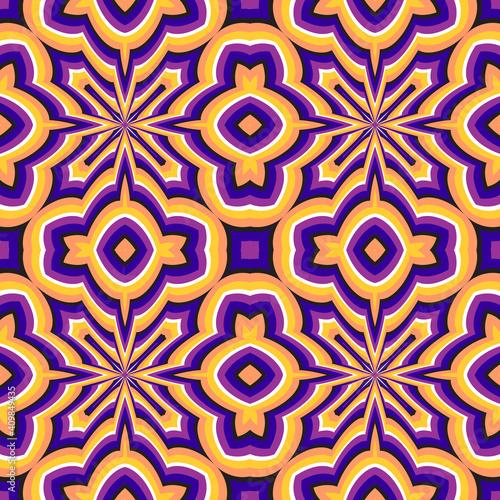 Colorful optical illusion seamless pattern Fototapeta