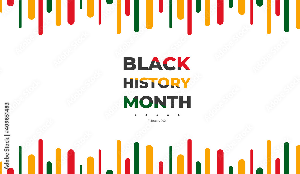 Fototapeta African American History or Black History Month. Celebrated annually in February in the USA and Canada. black history background