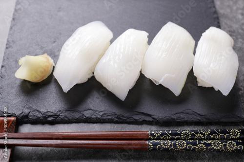 Fotografie, Obraz 烏賊の握り寿司