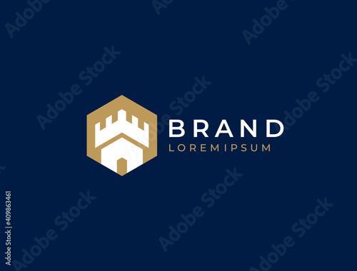 Castle logo Fototapet