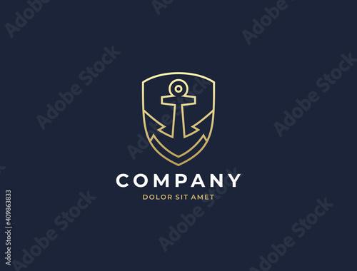 Anchor logo icon design template Fototapet