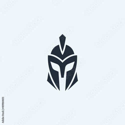 Obraz na plátne Warrior helmet logo icon design