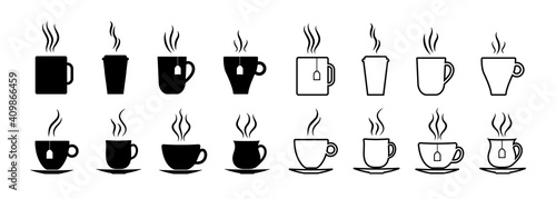 Canvas Print Cup icon for coffee and tea