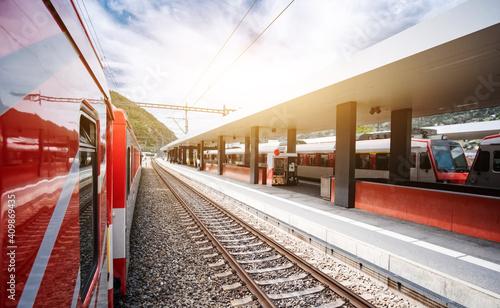 Valokuva Deserted railway station in Brig, Switzerland