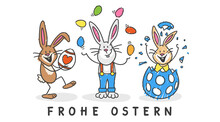 Frohe Ostern Osterhasen