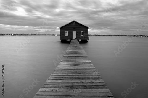 Leinwand Poster Crawley Edge Boatshed in Australia