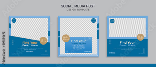 Obraz Real estate social media instagram post design template - fototapety do salonu