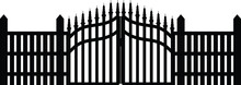 Iron Gate On White Background ,Gate Fence Vector